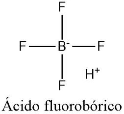 Estructura 2D del ácido fluorobórico