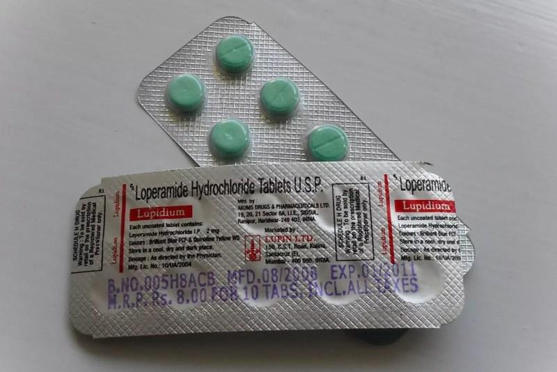 Cloruro de loperamida en tabletas