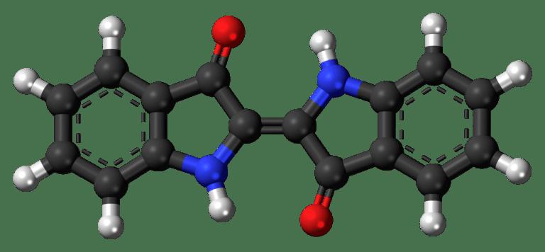 Modelo de la molécula de tinte de índigo