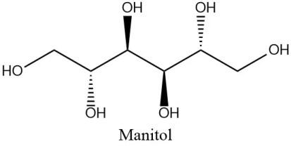 Estructura 2D del manitol