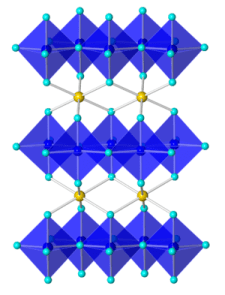 Estructura Cristalina del azul YinMn