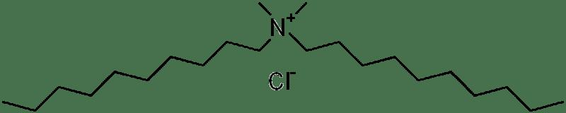 estructura química del cloruro de didecil dimetil amonio