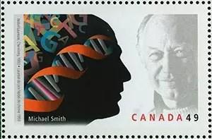 Sello postal de Canadá en honor a Michael Smith