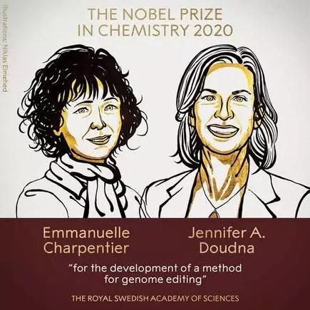Ganadoras del premio Nobel de química 2020