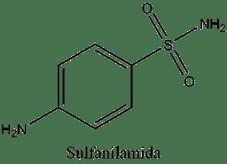Estructura de la sulfanilamida