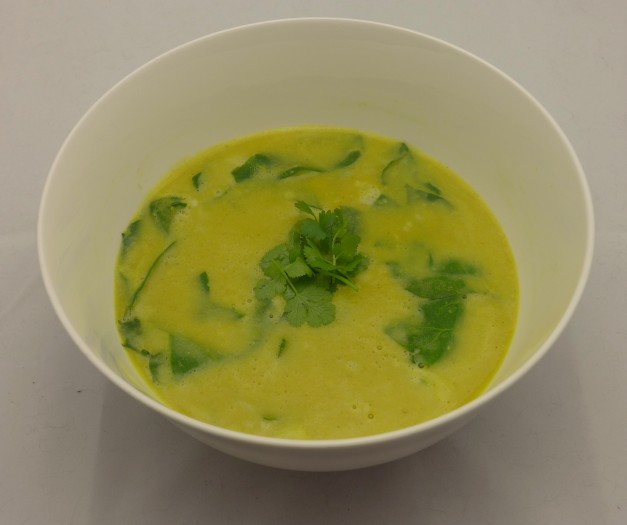coconut curry split pea soup