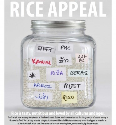 fareshare rice appeal
