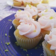 Raspberry and Lemon Drop Mini Cupcakes