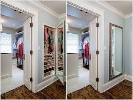 Storage behind mirrors