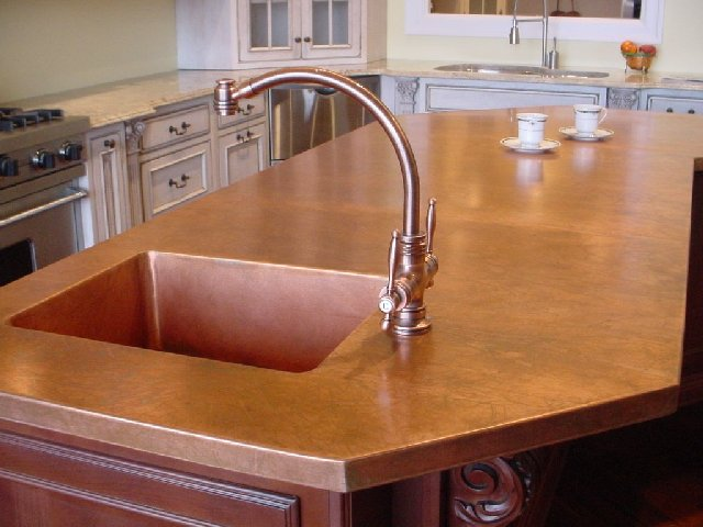 Kitchen Counter Tops - Copper - quinju.com