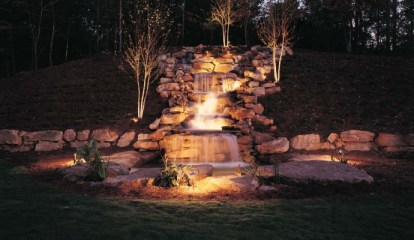 Waterfalls with Lighting - quinju.com