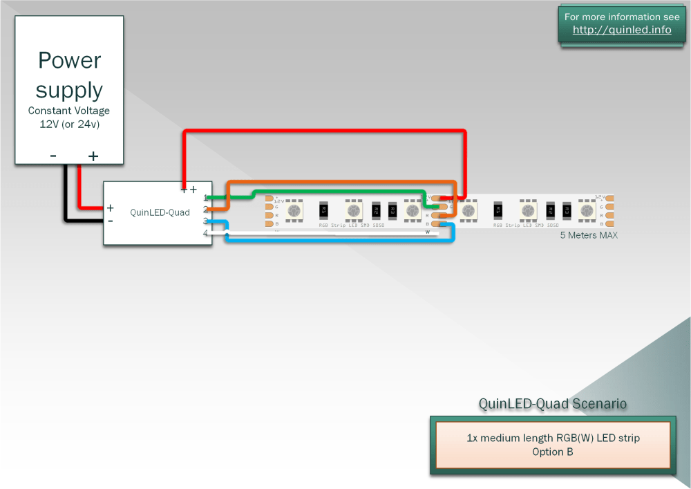 medium resolution of below diagram is for middle feeding the strip since it uses the least amount of wires