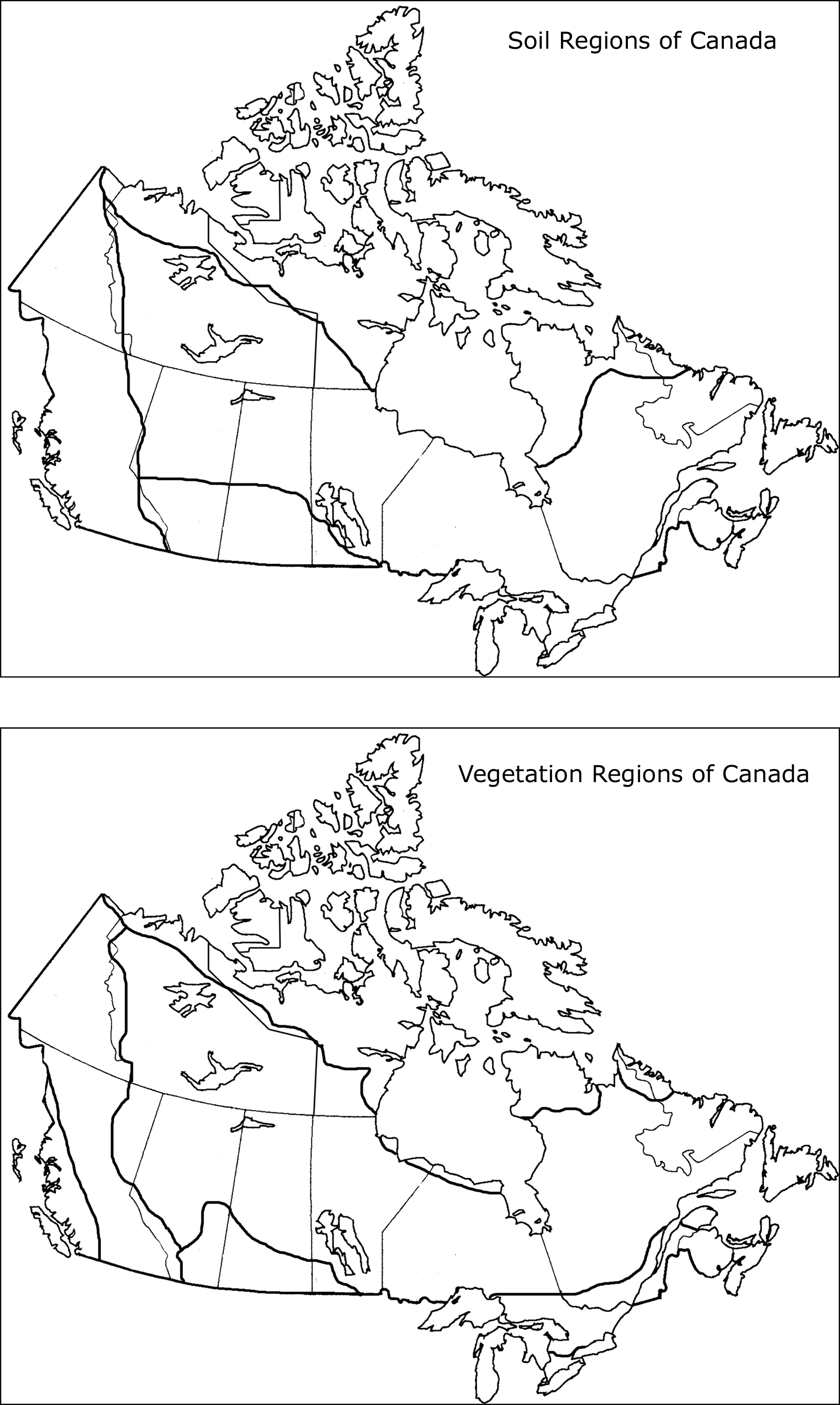 Canadian Waters Worksheet