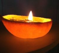 Tutorial: Orange-Peel Oil Lamp | QuinnCreative