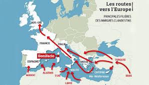 Migrant routes