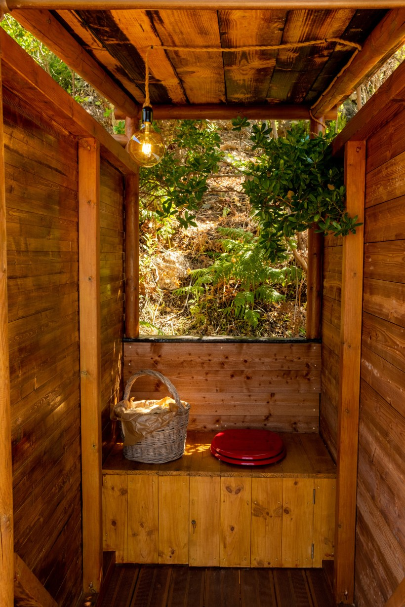 Ecological toilets don't use water and feed the soil with compost.