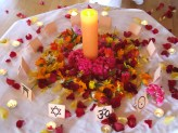 Candle & flowers