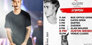 justin bieber India concert schedule