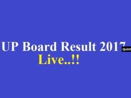 UP Board Result 2017