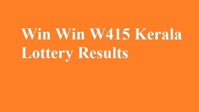Win Win W415 Kerala Lottery Results