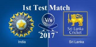 India vs Sri Lanka 1st Test Match Summary & Highlights