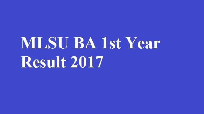 MLSU BA 1st Year Result 2017