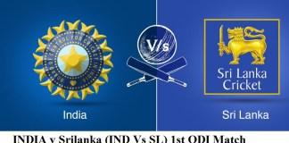 (IND Vs SL) 1st ODI Match Prediction