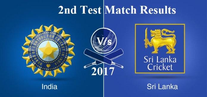 India v SL 2nd Test Match Summary
