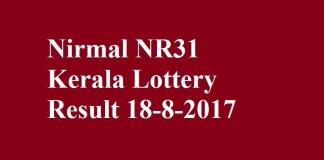 Nirmal NR31 Kerala Lottery Result