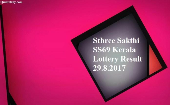 Sthree Sakthi SS69 Kerala Lottery Result