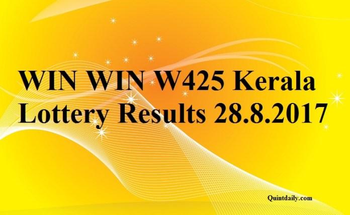 WIN WIN W425 Kerala Lottery Result