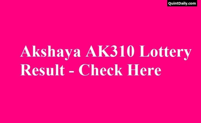 Akshaya AK310 Lottery Result
