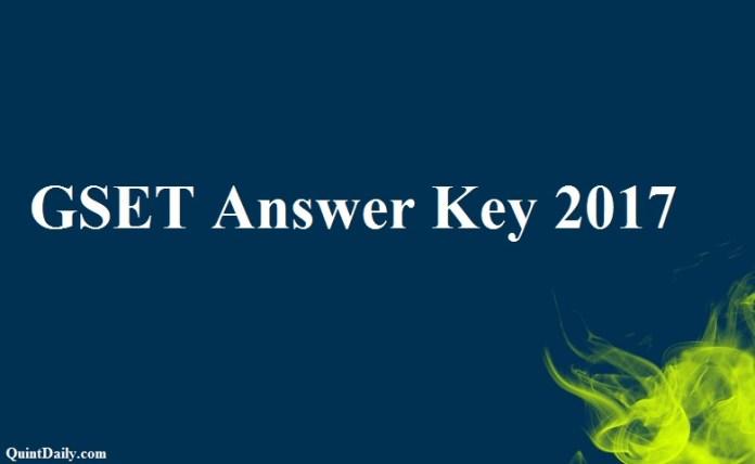 GSET Answer Key 2017
