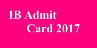 IB Admit Card 2017
