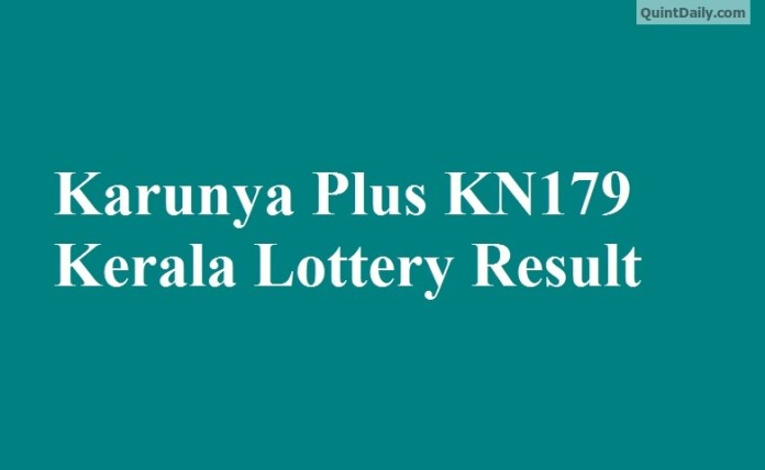 Karunya Plus KN179 Kerala Lottery Result