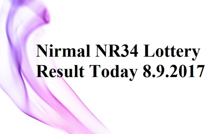 Nirmal NR34 Lottery Result