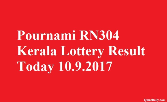 Pournami RN304 Lottery Result