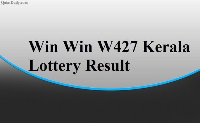 Win Win W427 Kerala Lottery Result