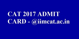 CAT 2017 Admit Card