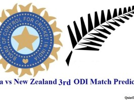 Ind vs NZ 3rd ODI Match Prediction