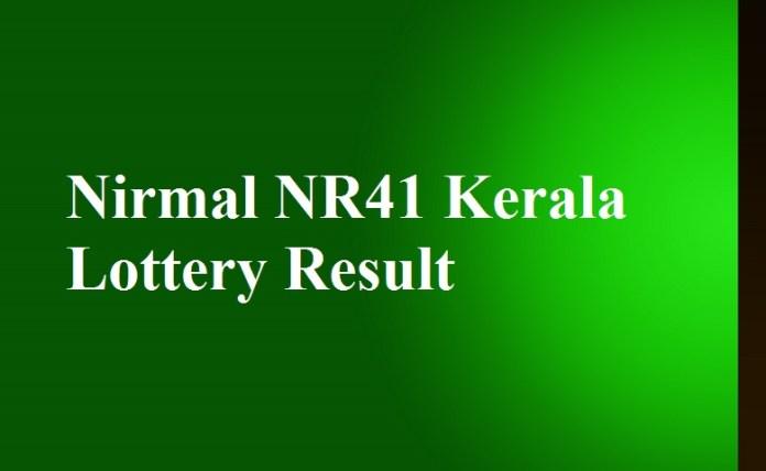 Nirmal NR41 Kerala Lottery Result