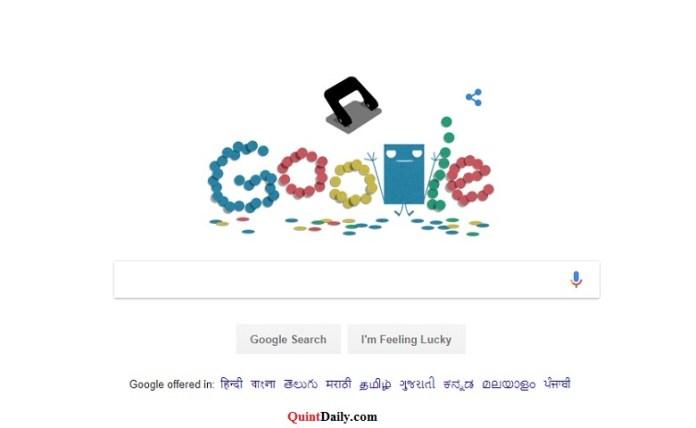 Google Doodle Hole Punch