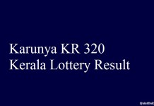 Karunya KR 320 Kerala Lottery Result
