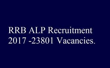 RRB ALP Recruitment 2017
