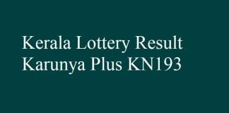 Karunya Plus KN193