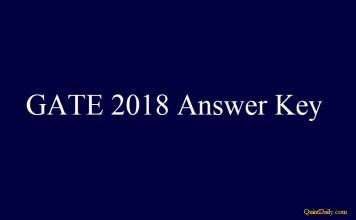 GATE 2018 Answer Key #gate2018answerkey #gateanswerkey quintdaily.com