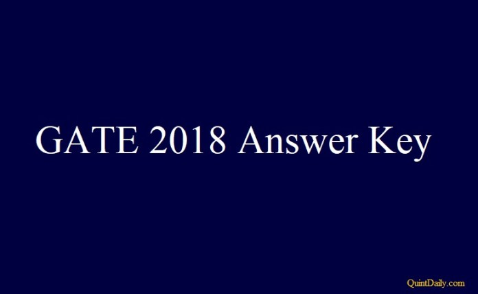 GATE 2018 Answer Key #gate2018answerkey #gateanswerkey quintdaily.com