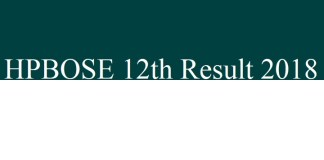 HPBOSE 12th Result 2018
