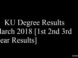 KU Degree Results March 2018