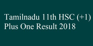 Tamilnadu Plus one Result 2018